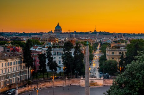 Overlooking Rome at dusk